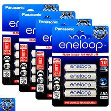 16 x Panasonic Eneloop AAA batteries 750mAh Rechargeable Ni-MH HR03 Phone 4 Pack