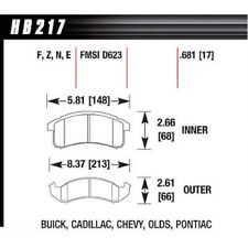 Hawk Performance HB217F681 High Performance (HPS) Front Disc Brake Pads