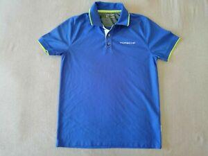 Porsche Poloshirt Gr. M,  Blau,  100% Polyester