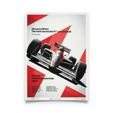 Unique & Limited Poster McLaren MP4-4 F1 Car Ayrton Senna 50 x 70 cm