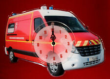 Horloge pendule pompier VSL artisanale