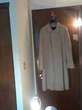London Fog Insulated BeigeTrench Hidden Button Overcoat Raincoat Mens Size 44