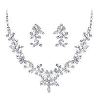 Party Wedding Bridal Crystal Rhinestone Necklace Earrings Jewelry Set Gift RAHN