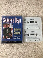Bernard Cornwell Sharpe's Devil 2-Tape Audio Book Cassette Sean Bean