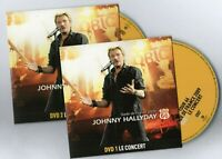 JOHNNY HALLYDAY - 2 x DVD LIVE 2009 + BONUS ♦ duo SYLVIE VARTAN, inédits, clips