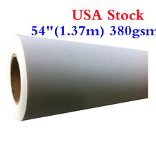"""USA Stock! 54"""" 1.37m 380gsm Eco-Solvent Matte Poly-Cotton Canvas Roll"""