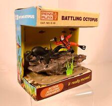 New listing Vintage Penn Plax Octopus w/Diver Aquarium Decoration Ornament Mib Pet Store Toy