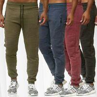 Motard Pantalon de Survêtement Hommes Jogging Élastiqué Fermeture Éclair