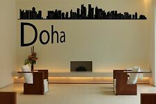 Wall Vinyl Sticker Decal Skyline Horizon Panorama City Doha Qatar World F1729