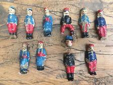 """Lot soldat figurine composition carton bouilli  """"renault &bon dufour"""" XIXe"""