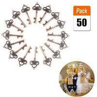 50x Lot  Vintage Skeleton Key Bottle Opener and Key Chain Barware Wedding Favors