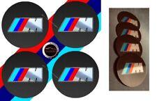 4 adhésifs sticker BMW M  DIAMETRE 55 MM carbone logo chromé pour centre jante