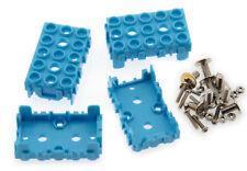 Lot de 4 supports pour module Grove 1 x 2 bleu - SEE439BLU-LT4