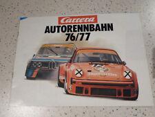 CARRERA Autorennbahn Katalog Prospekt 1976/1977 76/77