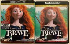 DISNEY PIXAR BRAVE 4K ULTRA HD BLU RAY 3 DISC SET + SLIPCOVER SLEEVE ULTIMATE ED