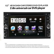 "6.2"" Car Stereo Radio DVD Player Double 2DIN Buletooch IN Dash+Backup Camera"