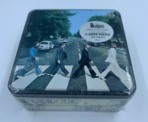 The Beatles Abbey Road Album 2-Sided 300 Piece Jigsaw Puzzle with Tin SEALED NIB