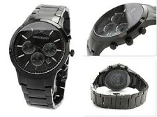 *NEW* MENS EMPORIO ARMANI BLACK ION PLATED WATCH - AR2453