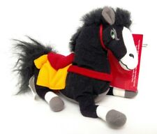 "NWMT Disney KHAN HORSE frm MULAN Stuffed PLush Beanie Bean Bag 8"" Black w Saddle"