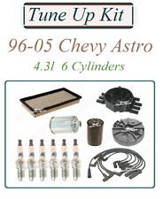 Tune Up For 96-05 Chevy Astro 4.3V6: Spark Plugs Wire set Cap Rotor Air Oil Fuel
