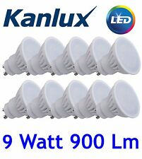 10x Kanlux TEDI LED High Lumen 9W Warm White 3000K GU10 Light Bulb Lamp 9 Watt