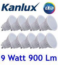 10x Kanlux TEDI LED High Lumen 9W Warm White 3000K GU10 Light Bulb Lamp 9 Watt