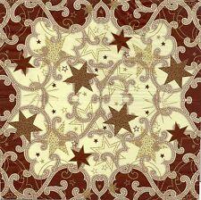 2 Serviettes en papier Décor étoile Decoupage Paper Napkins Stars are Shining