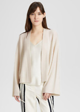 Theory Wide Sleeve Women's Cardigan Large Warm Stone Cashmere Sweater $365