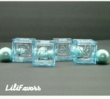 12 Fillable Blocks For Baby Shower Blue Party Decorations for Boy