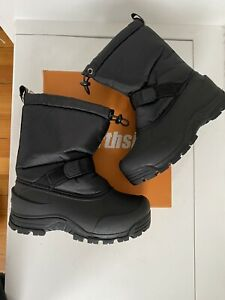 northside boys black winter snow boots size 3 youth new