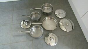 Set of STELLAR Stainless Steel Saucepans and Frying Pan Set with Lids