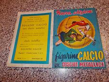 ALBUM FIGURINE CALCIO CON DISCHI METALLICI 1957/58 1958 VAV COMPLETO CALCIATORI