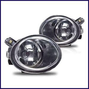 2001-2003 BMW E39 OEM REPLACEMENT CLEAR FOG LIGHTS LAMPS M5 MTECH FRONT BUMPER