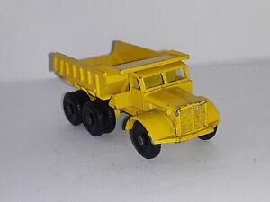 Matchbox ,1960's  # 6 , ( Euclid Dump Truck  ) Yellow - ( Loose )