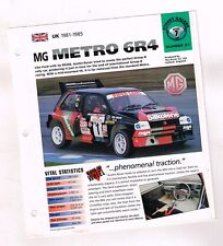 1981/1982/1983/1984/1985 MG METRO 6R4 Evolution IMP Brochure