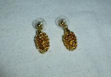 cones shape post earrings Gold color dangle pine