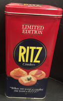 Vintage RITZ CRACKERS 1987 Collector's Storage Tin Container Limited Edition
