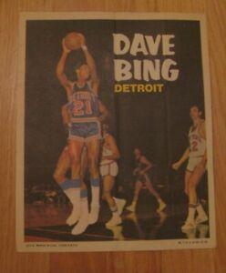 DAVE BING 1970-71 Topps Basketball Poster NBA Detroit Pistons 7 1970 HOF