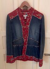 Chaqueta vaquera azul denim y roja H&M talla 36
