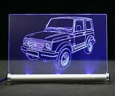 SUZUKI Samurai auto incisione su LED INSEGNA LUMINOSA SJ 4x4