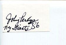 Johnny Perkins NY New York Giants Abilene Christian Wildcats Signed Autograph