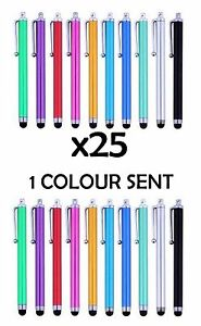 25 x QUALITY STYLUS PENS for IPAD , TABLET , IPHONE, SAMSUNG ETC