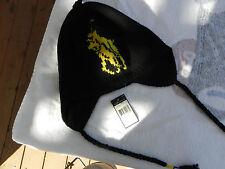 NEW RALPH LAUREN POLO SKI SNOW HAT/CAP EAR FLAPS LAMBS WOOL BIG PONY BLACK 1SZ