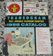 TRANSOGRAM 1958 CATALOG  DOLL JUVENILE  PLAYROOM FURNITURE  ORIGINAL