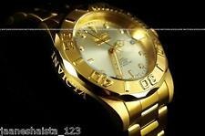 NEW Invicta Men Pro Diver 24 Jewels Automatic 23K Gold Plated SS Champagne Watch