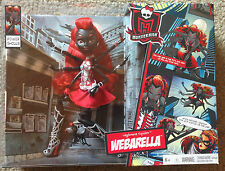 SDCC 2013 MATTEL MONSTER HIGH POWER GHOULS WEBARELLA DOLL PLUS 4 EXTRA EXCLUSIVE