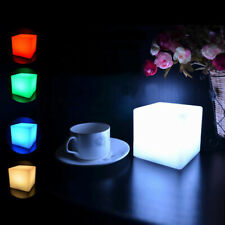 10cm Cube Led Mood Lght Night Control Remote Light  Lamp For Garden Bedside