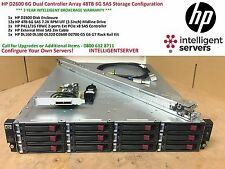 HP D2600 6G SAS Storage Array   48TB SAS Storage   Zahnstangen AJ940A 693689-B21