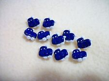 CUTE BLUE HIPPOS PLASTIC BUTTONS/SEWING SUPPLIES /5 PIECES