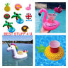 Inflatable Floating Drink Can Cup Holder Swimming Pool Flamingo Unicorn Fun f20